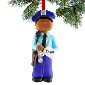 Personalized Policeman Writing a Ticket Christmas Ornament