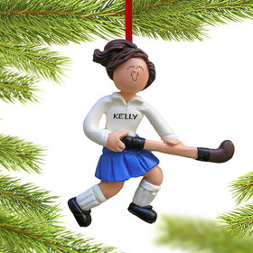 Personalized Field Hockey Player Christmas Ornament