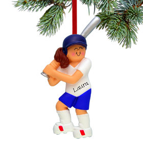 Personalized Softball Female Christmas Ornament