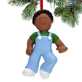 Baby's First Steps Boy Christmas Ornament