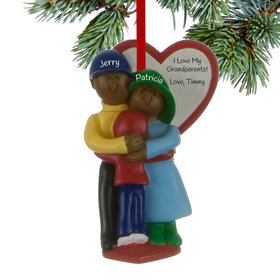 Personalized I Love My Grandparents Christmas Ornament