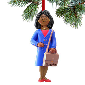 Personalized Business Woman Christmas Ornament