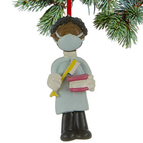 Dentist / Dental Hygienist Male Christmas Ornament