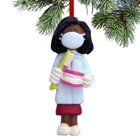 Dentist / Dental Hygienist Female Christmas Ornament