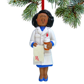 Pharmacist Female Christmas Ornament