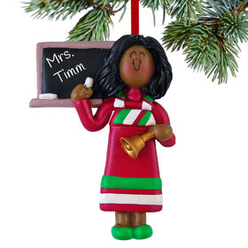 Personalized Teacher Female Christmas Ornament