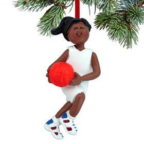 Basketball Female Christmas Ornament