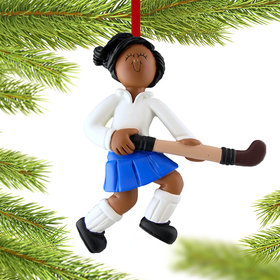 Field Hockey Player Christmas Ornament