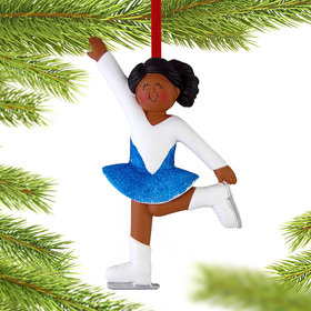 Ice Skater Christmas Ornament