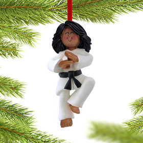 Karate Female Christmas Ornament