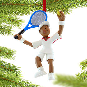 Tennis Male Christmas Ornament