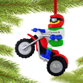 Personalized Dirt Bike Rider Christmas Ornament