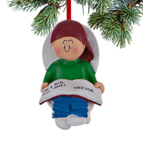 Personalized Potty Training Boy Christmas Ornament