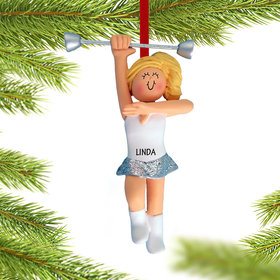 Personalized Baton Twirler Christmas Ornament