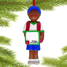 First Day of School Boy Christmas Ornament