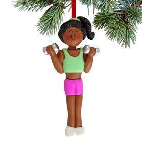 Weightlifter Female Christmas Ornament