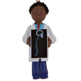 Personalized Chiropractor or X-ray Tech Male Christmas Ornament