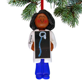 Chiropractor or X-ray Tech Female Christmas Ornament
