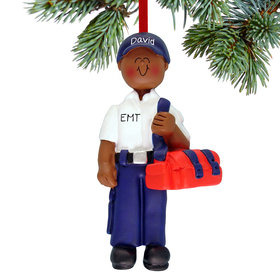 Personalized EMT or Delivery Person Male Christmas Ornament
