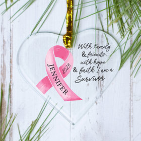 Personalized Ribbon With Inspiring Words Christmas Ornament