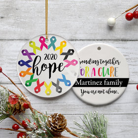 Personalized Awareness Ribbon Christmas Ornament