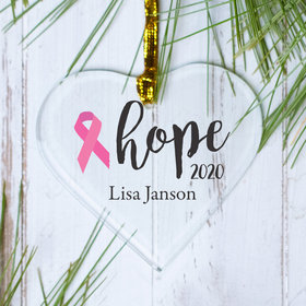 Personalized Choose your Ribbon Color - Pink Christmas Ornament