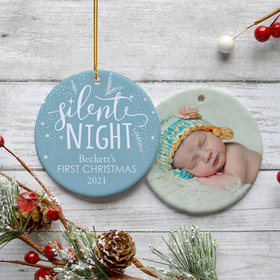 Personalized Baby's First Christmas Silent Night Christmas Ornament