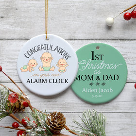 Personalized New Alarm Clock Christmas Ornament