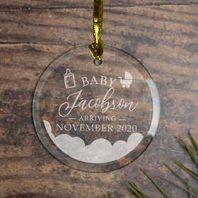 Personalized Expecting Baby Christmas Ornament