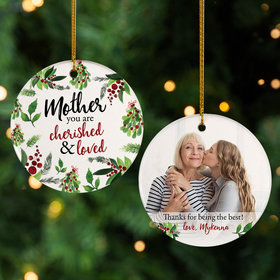 Personalized Mother Photo Christmas Ornament