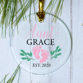 Personalized Aunt Footprint Ornament