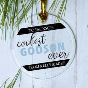Personalized Coolest Godson Christmas Ornament