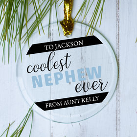 Personalized Coolest Nephew Christmas Ornament
