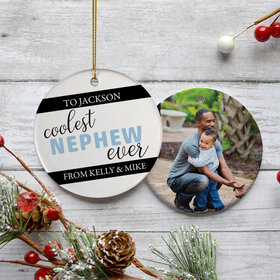 Personalized Nephew Christmas Ornament