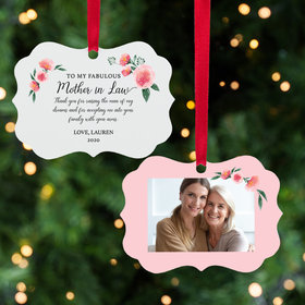 Personalized Fabulous Mother in Law Christmas Ornament