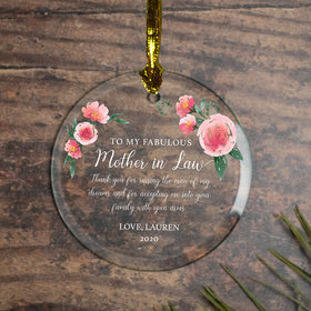 Personalized Mother in Law Christmas Ornament