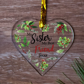 Personalized Sister, Best Friend Christmas Ornament