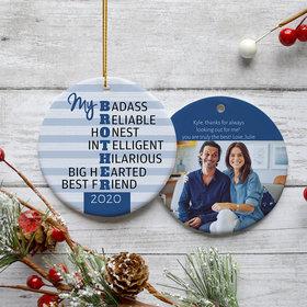 Personalized Best Brother Photo Christmas Ornament