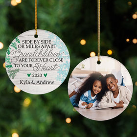 Personalized Grandchildren Photo Christmas Ornament