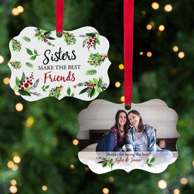 Personalized Sister Christmas Ornament
