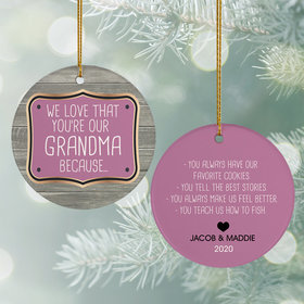 Personalized Reasons We Love Christmas Ornament