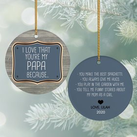 Personalized Reasons I Love Christmas Ornament