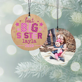 Personalized Best Big Sis Christmas Ornament