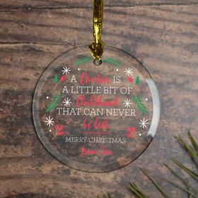 Personalized Cousins Christmas Ornament