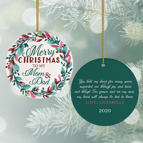 Personalized Parents Christmas Ornament