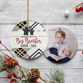 Personalized Promoted to Big Brother Christmas Ornament