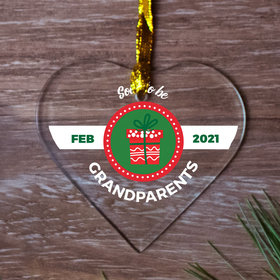Personalized Soon to Be Grandparents Christmas Ornament