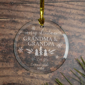 Personalized Merry Xmas Christmas Ornament