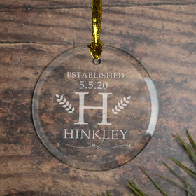 Personalized Monogram Family Christmas Ornament