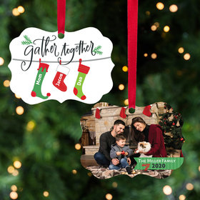 Personalized Stocking Family of 3 Christmas Ornament